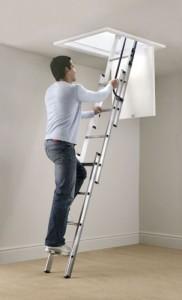 Aluminium Attic Ladder ready to climb