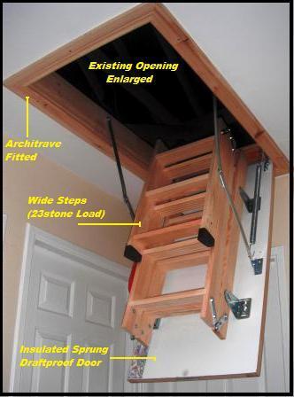 cork attic stairs
